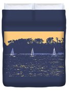 Sunset Race Duvet Cover