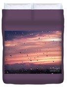 Sunset Raindrops Duvet Cover