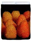 Sunset Raspberries Duvet Cover