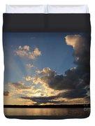 Sunset Rays On The Shore Duvet Cover