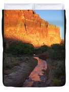 Sunset Reflection - Fremont River Duvet Cover