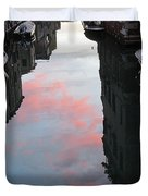 Sunset Reflections In Venice Duvet Cover