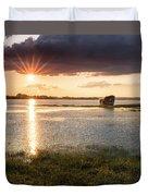 Sunset River Duvet Cover