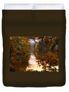 Sunset River View Duvet Cover
