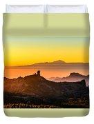 Sunset Roque Nublo Duvet Cover