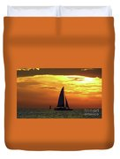 Sunset Sail Away Duvet Cover