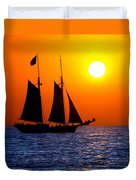Sunset Sailing In Key West Florida Duvet Cover