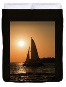 Sunset Sailing Duvet Cover
