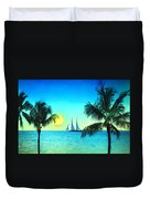 Sunset Sailor Duvet Cover by Bill Cannon