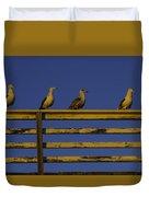 Sunset Seagulls Duvet Cover