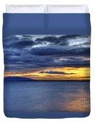 Sunset Seascape Alaska Duvet Cover