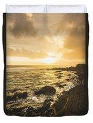 Sunset Seascape Duvet Cover