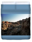 Sunset Shadows In The Badlands Duvet Cover