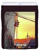 Sunset Ship Duvet Cover