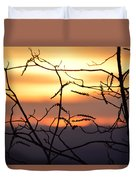 Sunset Silhouette Duvet Cover