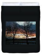Sunset Silhouettes Duvet Cover