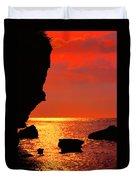 Sunset Silhouettes Duvet Cover