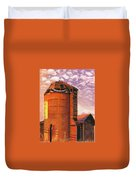Sunset Silo Duvet Cover