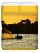 Sunset Ski Duvet Cover