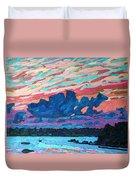Sunset Snails Duvet Cover