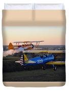 Sunset Stearmans Duvet Cover