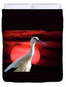 Sunset Stork Duvet Cover