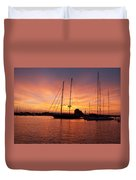 Sunset Tall Ships Duvet Cover