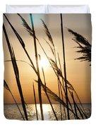 Sunset Through The Dune Grass Duvet Cover