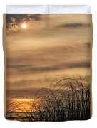 Sunset Through The Seagrass Duvet Cover
