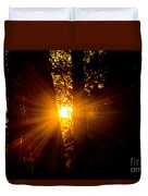 Sun Bursting Through The Trees, Chiloquin Oregon Duvet Cover