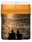 Sunset Together In Key West Duvet Cover