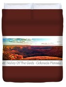 Sunset Tour Valley Of The Gods Utah Pan 09 Text Duvet Cover