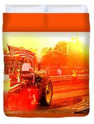 Sunset Tractor Pull Duvet Cover