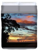 Sunset Tree Florida Duvet Cover
