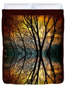 Sunset Tree Silhouette Abstract 3 Duvet Cover
