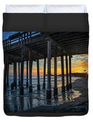 Sunset Under The Ventura Pier Duvet Cover
