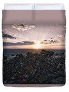 Sunset Valley Of The Gods Utah 01 B Duvet Cover