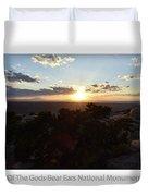 Sunset Valley Of The Gods Utah 01 Text Duvet Cover