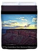 Sunset Valley Of The Gods Utah 03 Text Black Duvet Cover