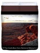 Sunset Valley Of The Gods Utah 09 Text Black Duvet Cover