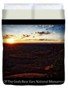 Sunset Valley Of The Gods Utah 11 Text Black Duvet Cover