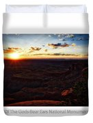 Sunset Valley Of The Gods Utah 11 Text Duvet Cover