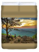 Sunset View At Ravens Roost Panorama Duvet Cover