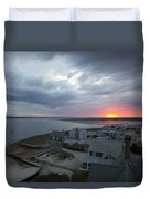 Sunset View From Sandy Neck Light Duvet Cover