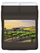 Sunset Vineyard Duvet Cover by Sharon Foster