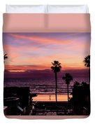Sunset Walker Duvet Cover