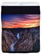 Sunset Waterfall Duvet Cover