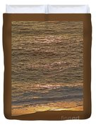 Sunset Waves Over Carmel Beach Duvet Cover