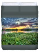 Sunset West Crooked Lake Duvet Cover