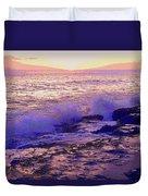 Sunset, West Oahu Duvet Cover